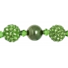 Shamballa Beads Green Turquoise 8In Strand